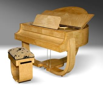 Art Deco Grand Piano, Strohmenger, 1930