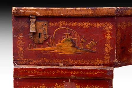 Antique Italian Harpsichord Detail