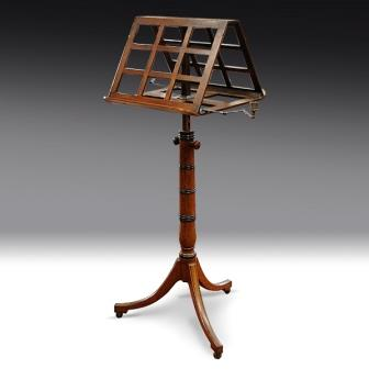 Antique Music Stand Regency Mahogany