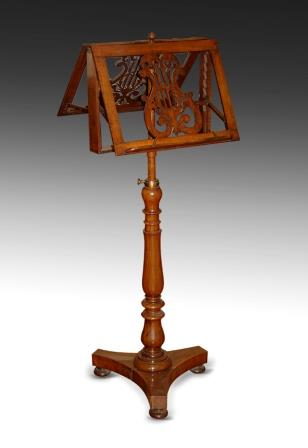Antique Music Stand Walnut 1840