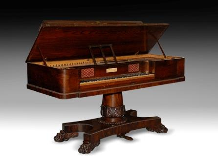 Square Piano, Thos. Butcher, ca. 1830