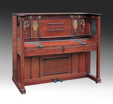Antique Art Nouveau Upright Piano, Erard, 1903