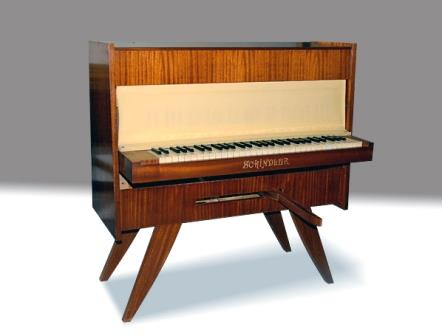 Antique Upright Ships Piano